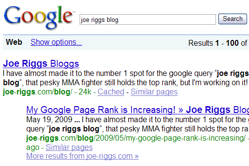 joe riggs blog top query for 'joe riggs blog'