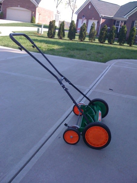 reel mower pic